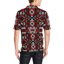 Chiefs Mountain Candy Sierra-Dark Men's All Over Print Polo Shirt (Model T55) Men's Polo Shirt (Model T55) e-joyer