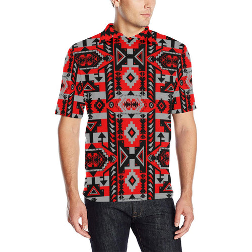 Chiefs Mountain Candy Sierra Men's All Over Print Polo Shirt (Model T55) Men's Polo Shirt (Model T55) e-joyer