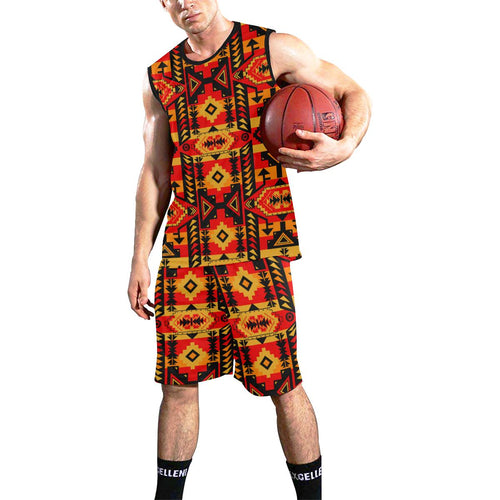 Chiefs Mountain Fire All Over Print Basketball Uniform Basketball Uniform e-joyer