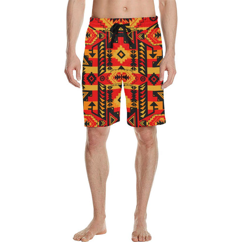 Chiefs Mountain Fire Men's All Over Print Casual Shorts (Model L23) Men's Casual Shorts (L23) e-joyer
