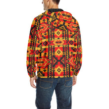 Chiefs Mountain Fire Unisex Quilted Coat All Over Print Quilted Windbreaker for Men (H35) e-joyer