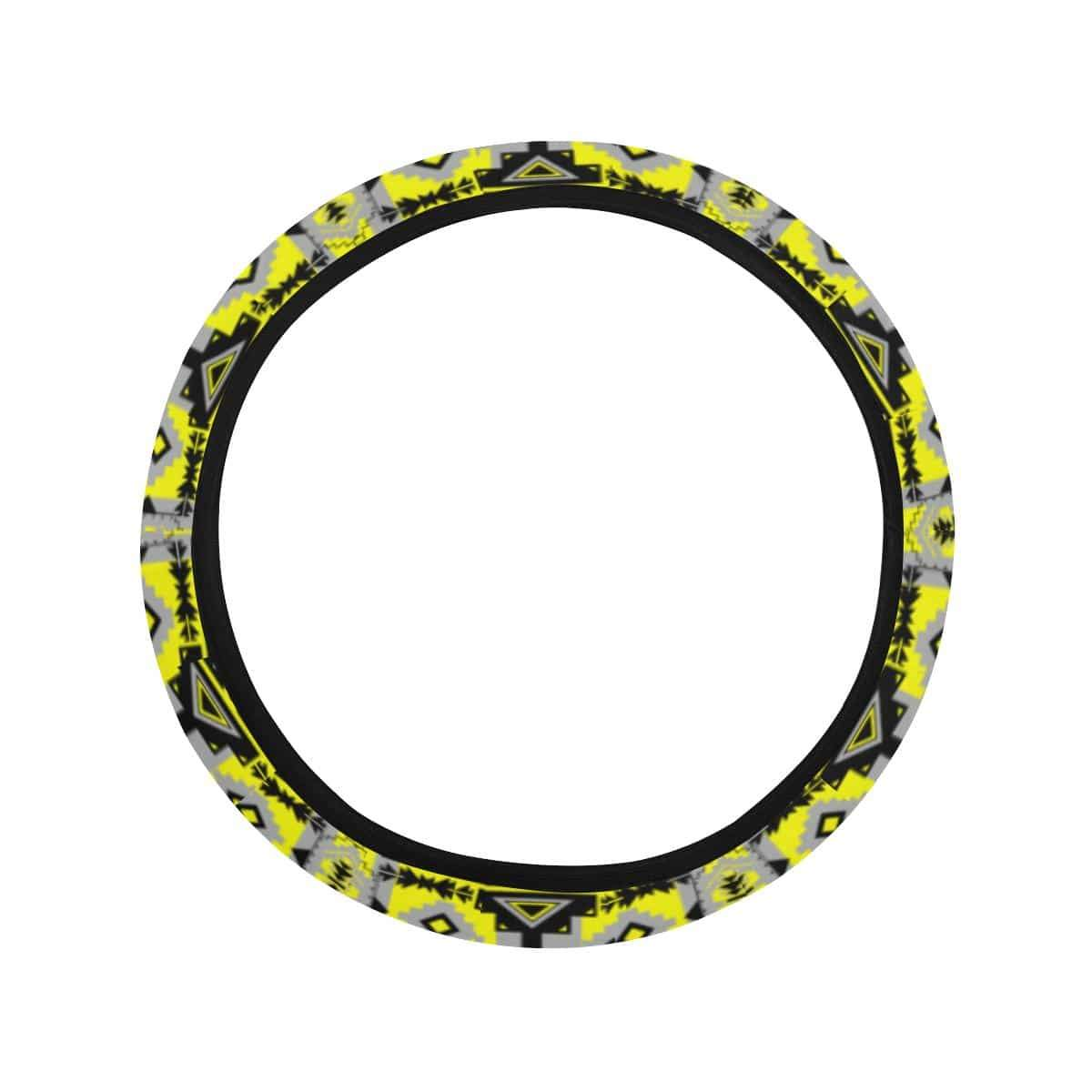Chiefs Mountain Highlands Steering Wheel Cover with Elastic Edge Steering Wheel Cover with Elastic Edge e-joyer
