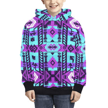 Chiefs Mountain Moon Shadow Kids' All Over Print Hoodie (Model H38) Kids' AOP Hoodie (H38) e-joyer