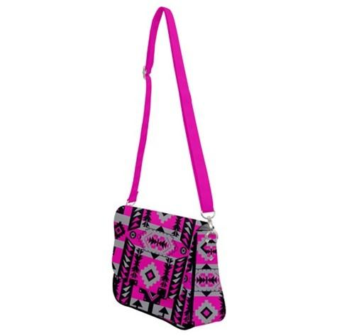 Chiefs Mountain Pink Shoulder Bag with Back Zipper 49 Dzine