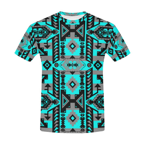 Chiefs Mountain Sky All Over Print T-Shirt for Men (USA Size) (Model T40) All Over Print T-Shirt for Men (T40) e-joyer