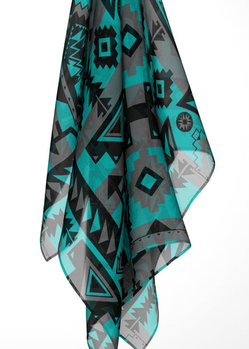 Chiefs Mountain Sky Large Square Chiffon Scarf fashion-scarves 49 Dzine