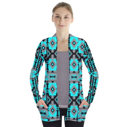 Chiefs Mountain Sky Open Front Pocket Cardigan 49 Dzine