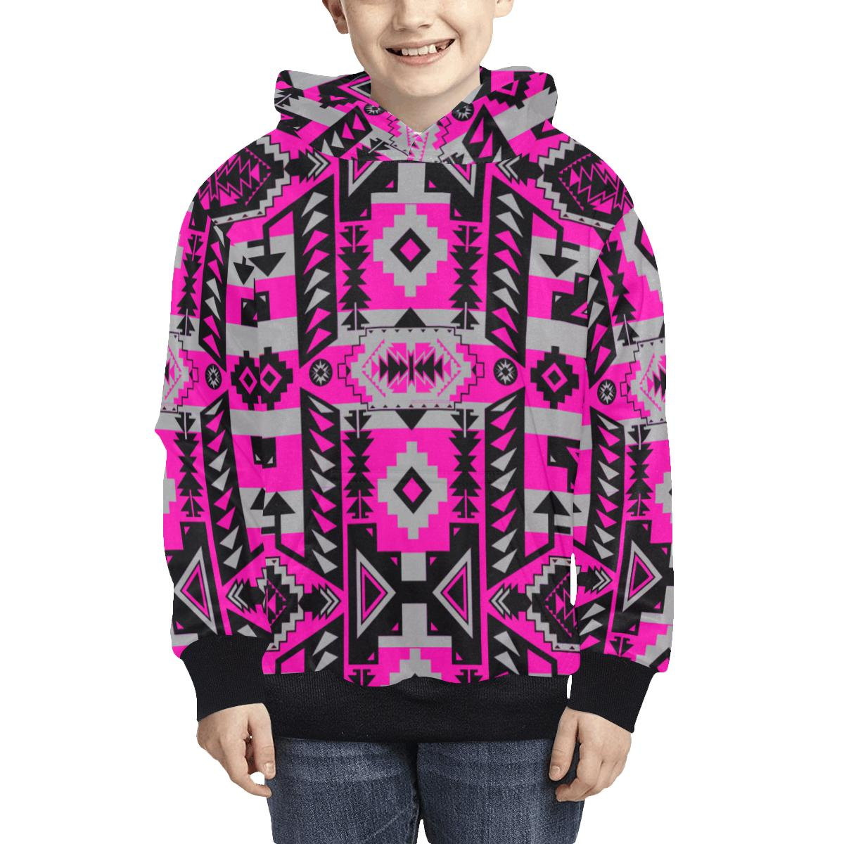 Chiefs Mountain Sunset Kids' All Over Print Hoodie (Model H38) Kids' AOP Hoodie (H38) e-joyer