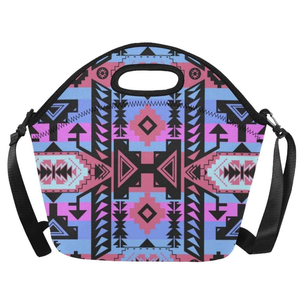 Chiefs Mountain Sunset Neoprene Lunch Bag/Large (Model 1669) Neoprene Lunch Bag/Large (1669) e-joyer