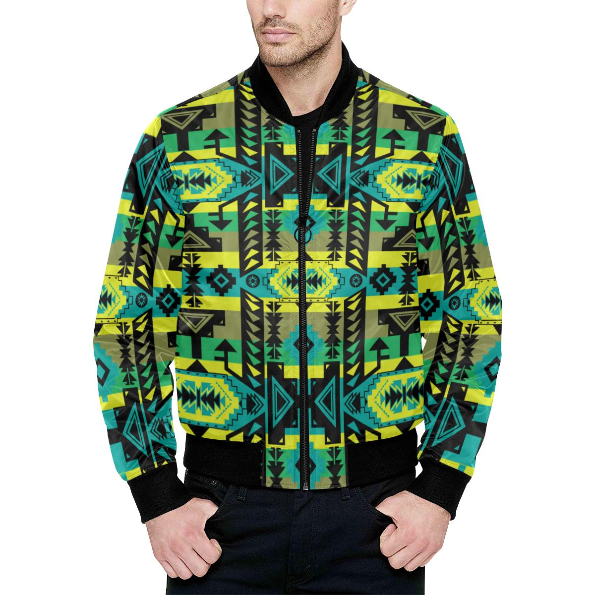 Chiefs Mountain Unisex Heavy Bomber Jacket with Quilted Lining All Over Print Quilted Jacket for Men (H33) e-joyer