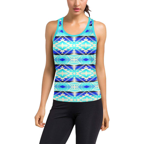 Coastal War Party Women's Racerback Tank Top (Model T60) Racerback Tank Top (T60) e-joyer