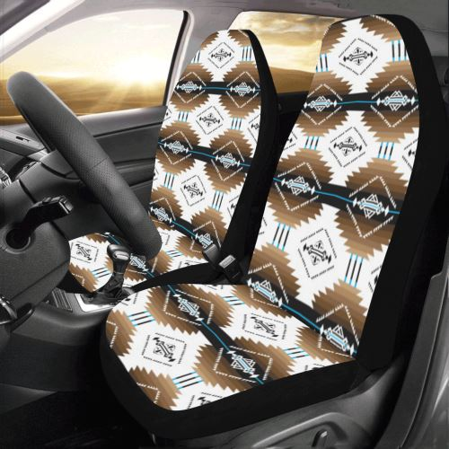 Cofitichequi White Car Seat Covers (Set of 2) Car Seat Covers e-joyer