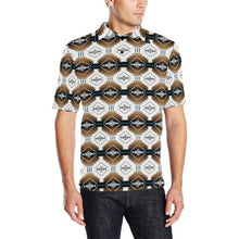 Cofitichequi White Men's All Over Print Polo Shirt (Model T55) Men's Polo Shirt (Model T55) e-joyer