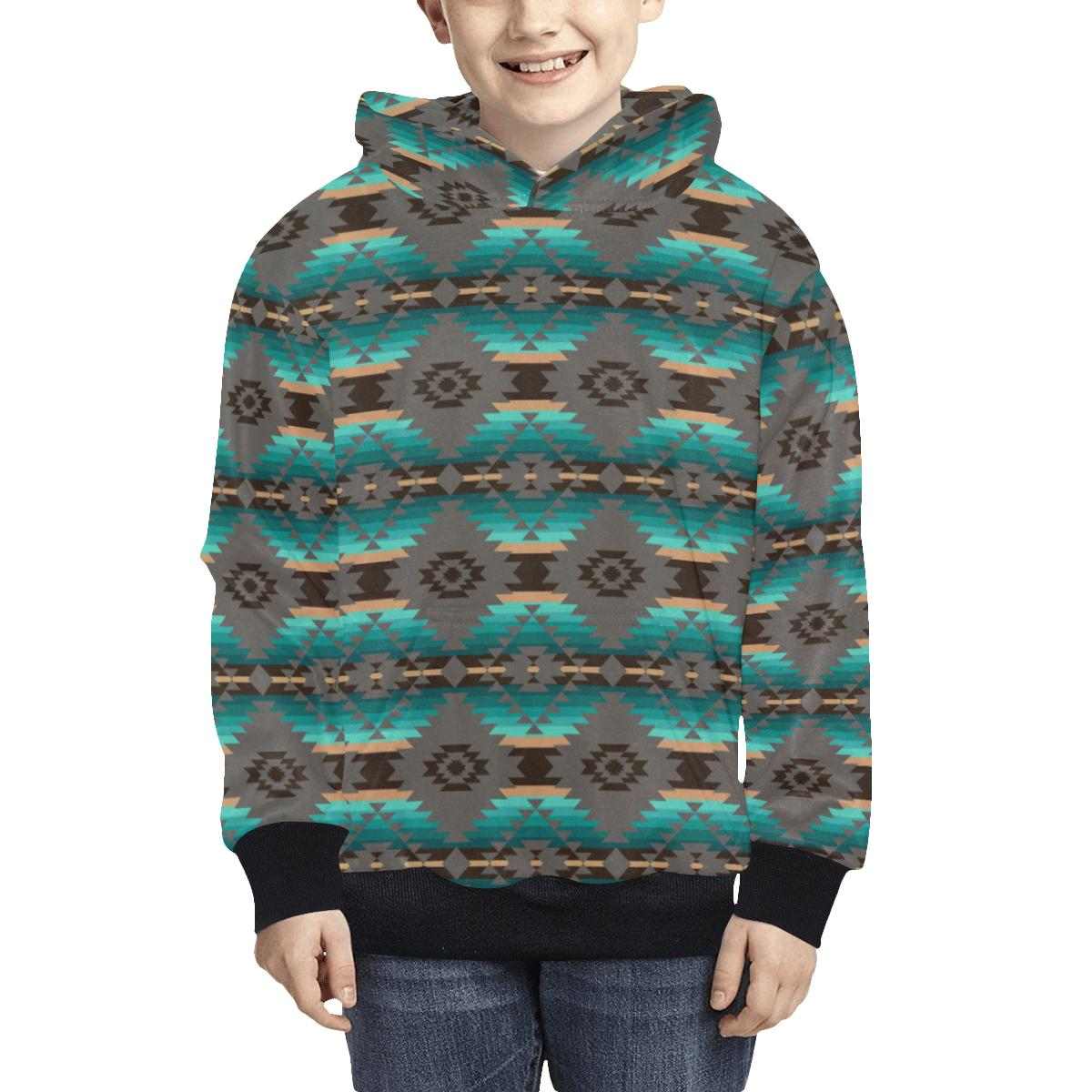 Cree Confederacy Kids' All Over Print Hoodie (Model H38) Kids' AOP Hoodie (H38) e-joyer