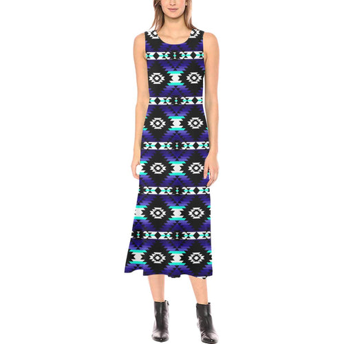 Cree Confederacy Midnight Phaedra Sleeveless Open Fork Long Dress (Model D08) Phaedra Sleeveless Open Fork Long Dress (D08) e-joyer