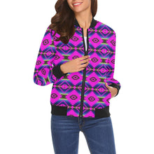 Cree Confederacy Ribbon Dress All Over Print Bomber Jacket for Women (Model H19) All Over Print Bomber Jacket for Women (H19) e-joyer