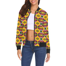 Cree Confederacy Summer Gathering All Over Print Bomber Jacket for Women (Model H19) All Over Print Bomber Jacket for Women (H19) e-joyer