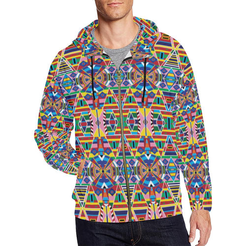 Crow Captive All Over Print Full Zip Hoodie for Men (Model H14) All Over Print Full Zip Hoodie for Men (H14) e-joyer