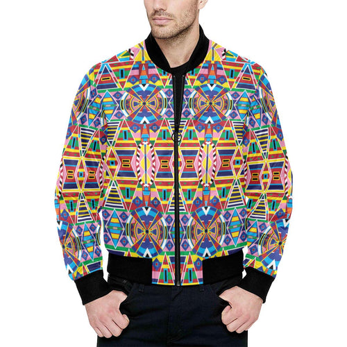 Crow Captive All Over Print Quilted Bomber Jacket for Men (Model H33) All Over Print Quilted Jacket for Men (H33) e-joyer