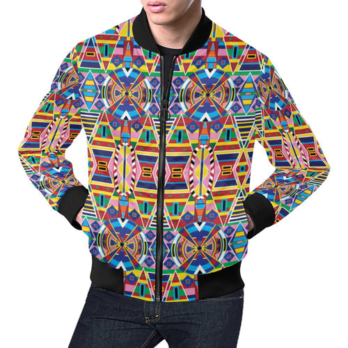 Crow Captive Large All Over Print Bomber Jacket for Men/Large Size (Model H19) All Over Print Bomber Jacket for Men/Large (H19) e-joyer