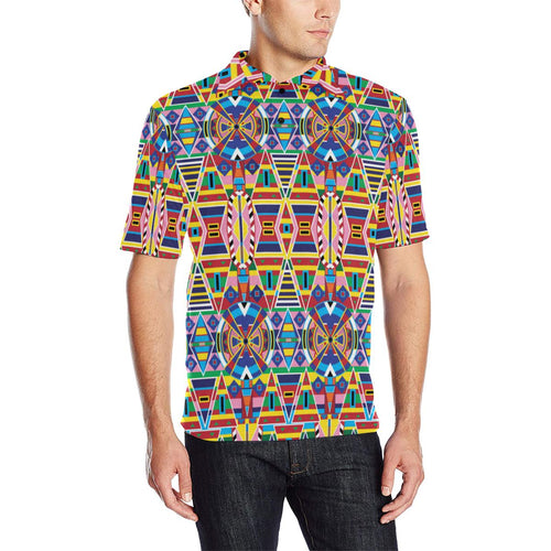 Crow Captive Men's All Over Print Polo Shirt (Model T55) Men's Polo Shirt (Model T55) e-joyer
