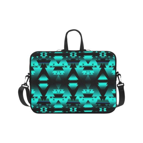 Dark-Deep Lake-Winter-Camp Laptop Handbags 17