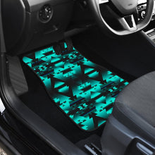 Dark Deep Lake Winter Camp Set of 4 Car Mats 49 Dzine
