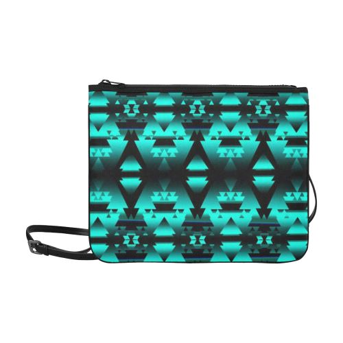 Dark-Deep Lake-Winter-Camp Slim Clutch Bag (Model 1668) Slim Clutch Bags (1668) e-joyer