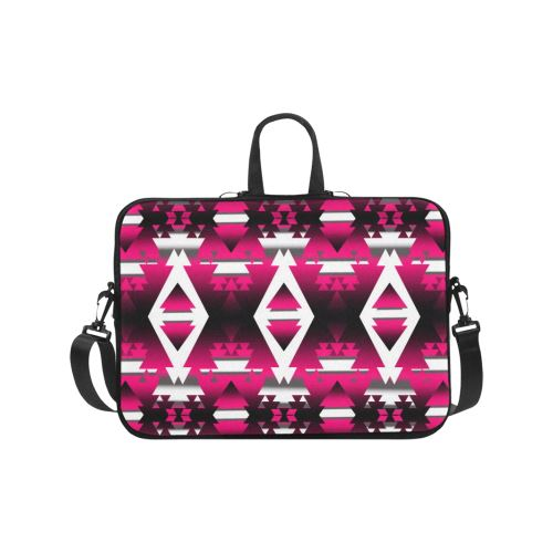 Dark Sunset Winter Camp Laptop Handbags 17