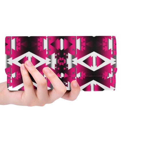 Dark Sunset Winter Camp Women's Trifold Wallet (Model 1675) Women's Trifold Wallet e-joyer