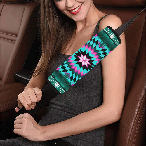 Deep Lake and Sunset Star Car Seat Belt Cover 7''x12.6'' Car Seat Belt Cover 7''x12.6'' e-joyer