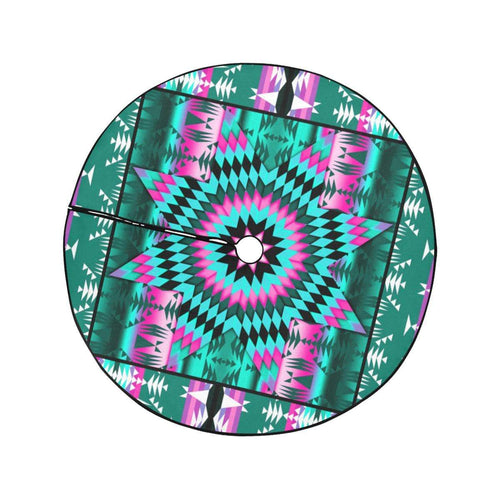 Deep Lake and Sunset Star Christmas Tree Skirt 47