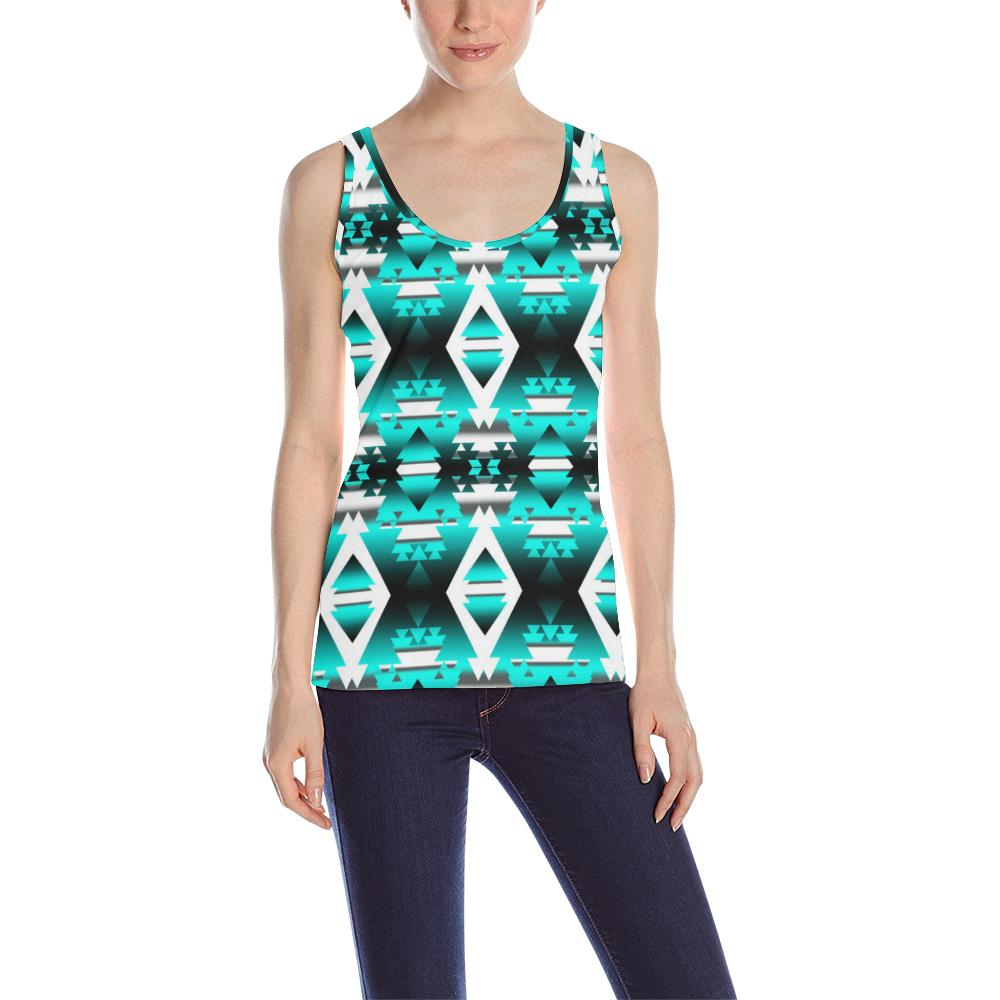 Deep Lake Winter Camp All Over Print Tank Top for Women (Model T43) All Over Print Tank Top for Women (T43) e-joyer