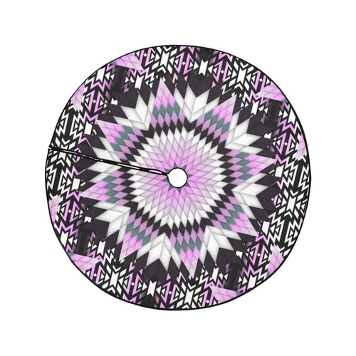 Electric Candy Star Christmas Tree Skirt 47