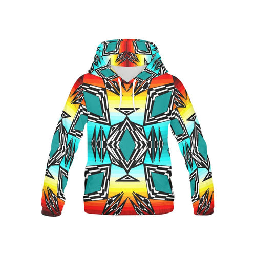 fire and Sky gradient II All Over Print Hoodie for Kid (USA Size) (Model H13) All Over Print Hoodie for Kid e-joyer