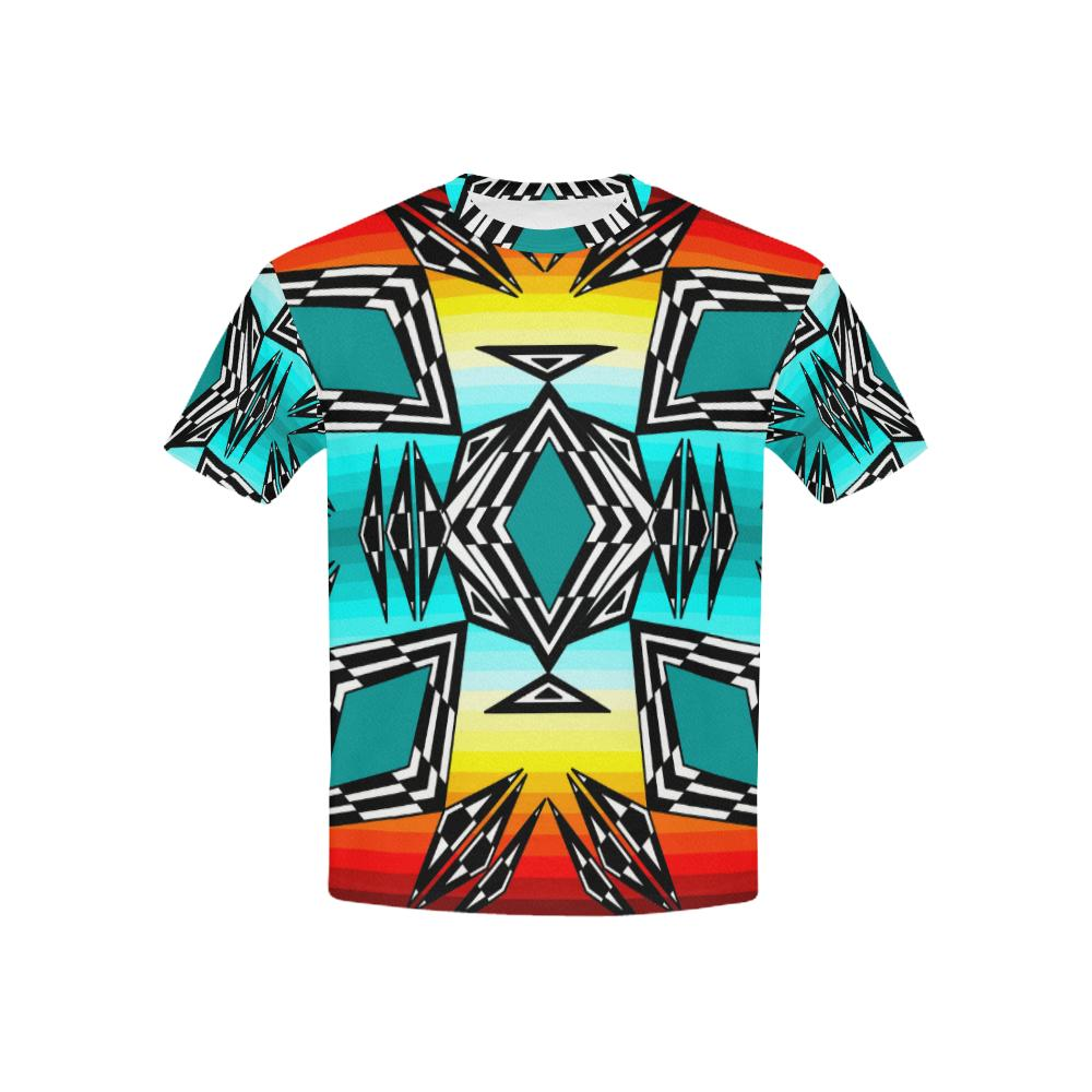 fire and Sky gradient II All Over Print T-shirt for Kid (USA Size) (Model T40) All Over Print T-shirt for Kid e-joyer