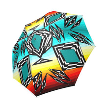 fire and Sky gradient II Foldable Umbrella Foldable Umbrella e-joyer