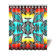 "fire and Sky gradient II Shower Curtain 72""x84"" Shower Curtain 72""x84"" e-joyer"