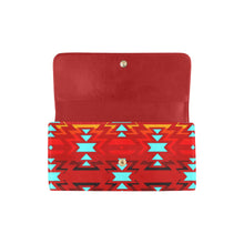 Fire Colors and Sierra Sky Women's Trifold Wallet Women's Trifold Wallet e-joyer