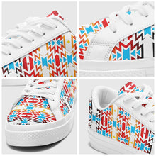 Fire Colors and Sky Aapisi Low Top Canvas Shoes White Sole 49 Dzine