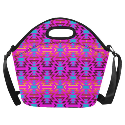 Fire Colors and Sky Cotton Candy Neoprene Lunch Bag/Large (Model 1669) Neoprene Lunch Bag/Large (1669) e-joyer