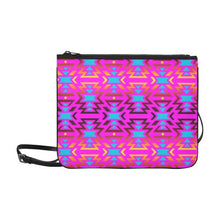 Fire Colors and Sky Cotton Candy Slim Clutch Bag (Model 1668) Slim Clutch Bags (1668) e-joyer