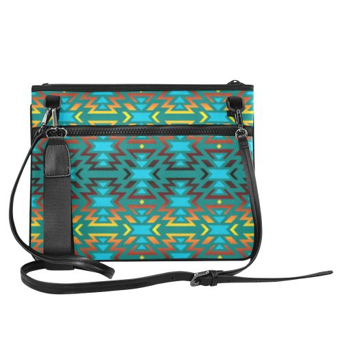 Fire Colors and Sky Deep Lake Slim Clutch Bag (Model 1668) Slim Clutch Bags (1668) e-joyer