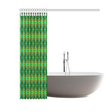 "Fire Colors and Sky Green Shower Curtain 60""x72"" Shower Curtain 60""x72"" e-joyer"