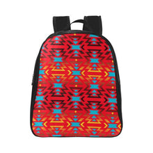 Fire Colors and Sky Sierra School Backpack (Model 1601)(Small) School Backpacks/Small (1601) e-joyer