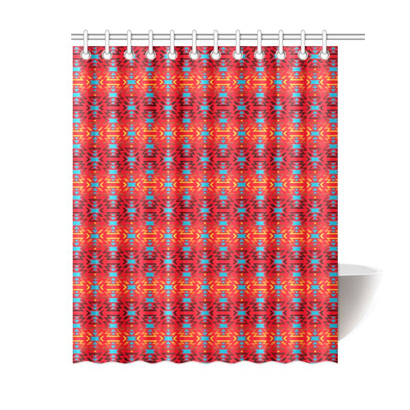 Fire Colors and Sky Sierra Shower Curtain 60