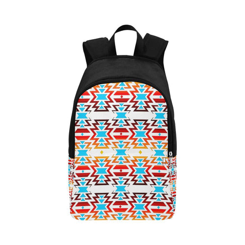 Fire Colors and Sky White Large Backpack (Model 1659) Casual Backpack for Adult (1659) e-joyer