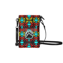 Fire Colors and Turquoise Bearpaw Small Cell Phone Purse (Model 1711) Small Cell Phone Purse (1711) e-joyer
