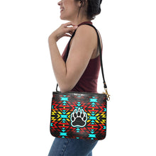 Fire Colors and Turquoise Bearpaw Small Shoulder Bag (Model 1710) Small Shoulder Bag (1710) e-joyer