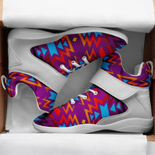 Fire Colors and Turquoise Purple Kid's Ipottaa Basketball / Sport High Top Shoes 49 Dzine